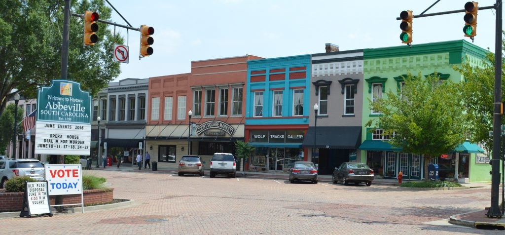 abbeville county, downtown abbeville