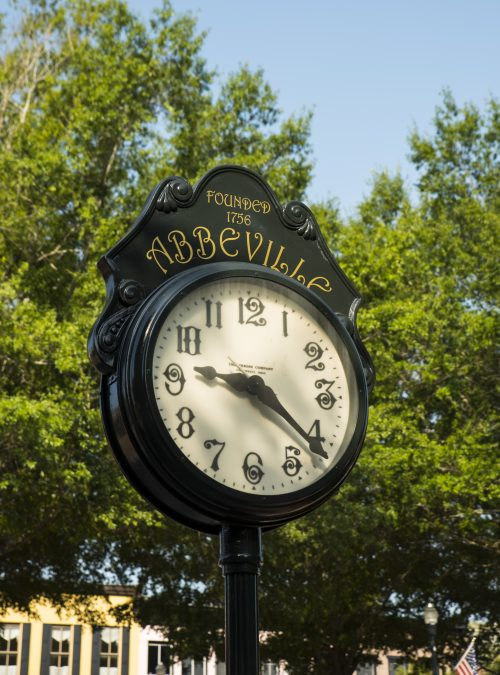 abbeville county, downtown abbeville, abbeville clock